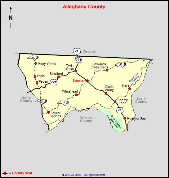 Alleghany County North Carolina