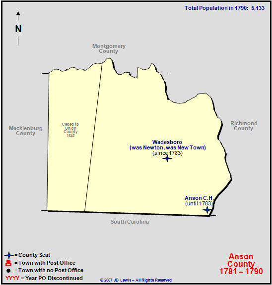 Anson County Nc 1781 To 1790