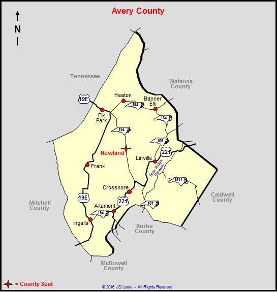 Avery County, North Carolina on