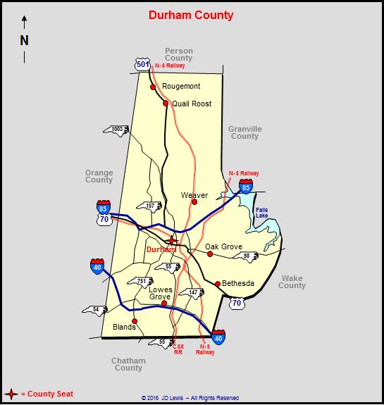 Durham County, North Carolina on