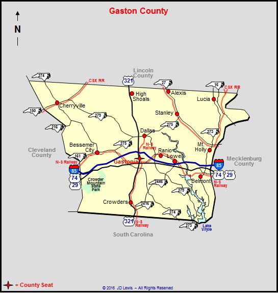 Gaston County North Carolina