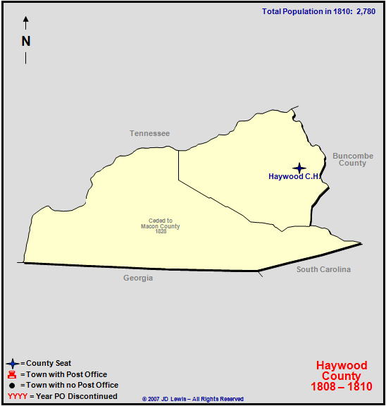 Haywood County Nc 1808 To 1810