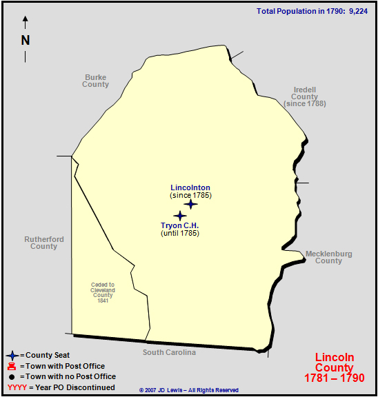 Lincoln County Nc 1781 To 1790