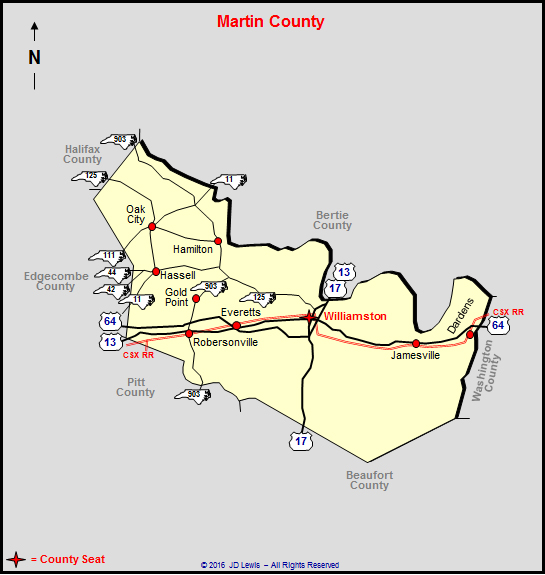 Martin County Nc Map.Martin County North Carolina