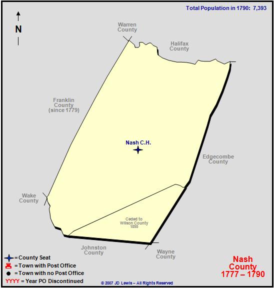 Nash County Nc 1777 To 1790