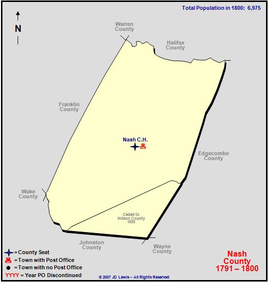 Nash County Nc 1791 To 1800