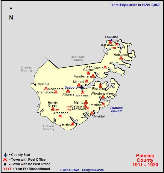 Pamlico County Nc 1911 To 1920