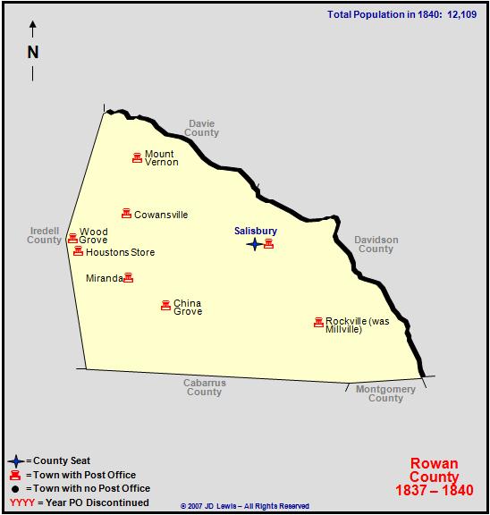 Rowan County Nc 1837 To 1840