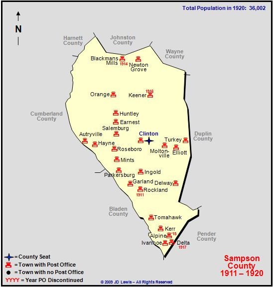 Sampson County Nc 1911 To 1920