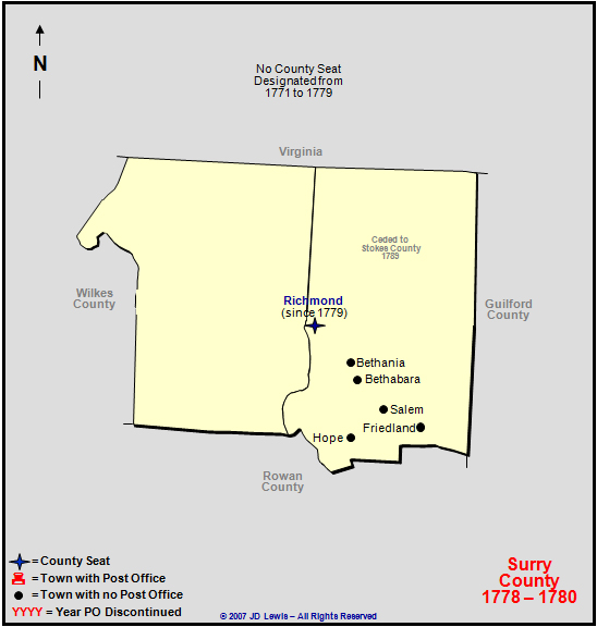 Surry County Nc 1778 To 1780