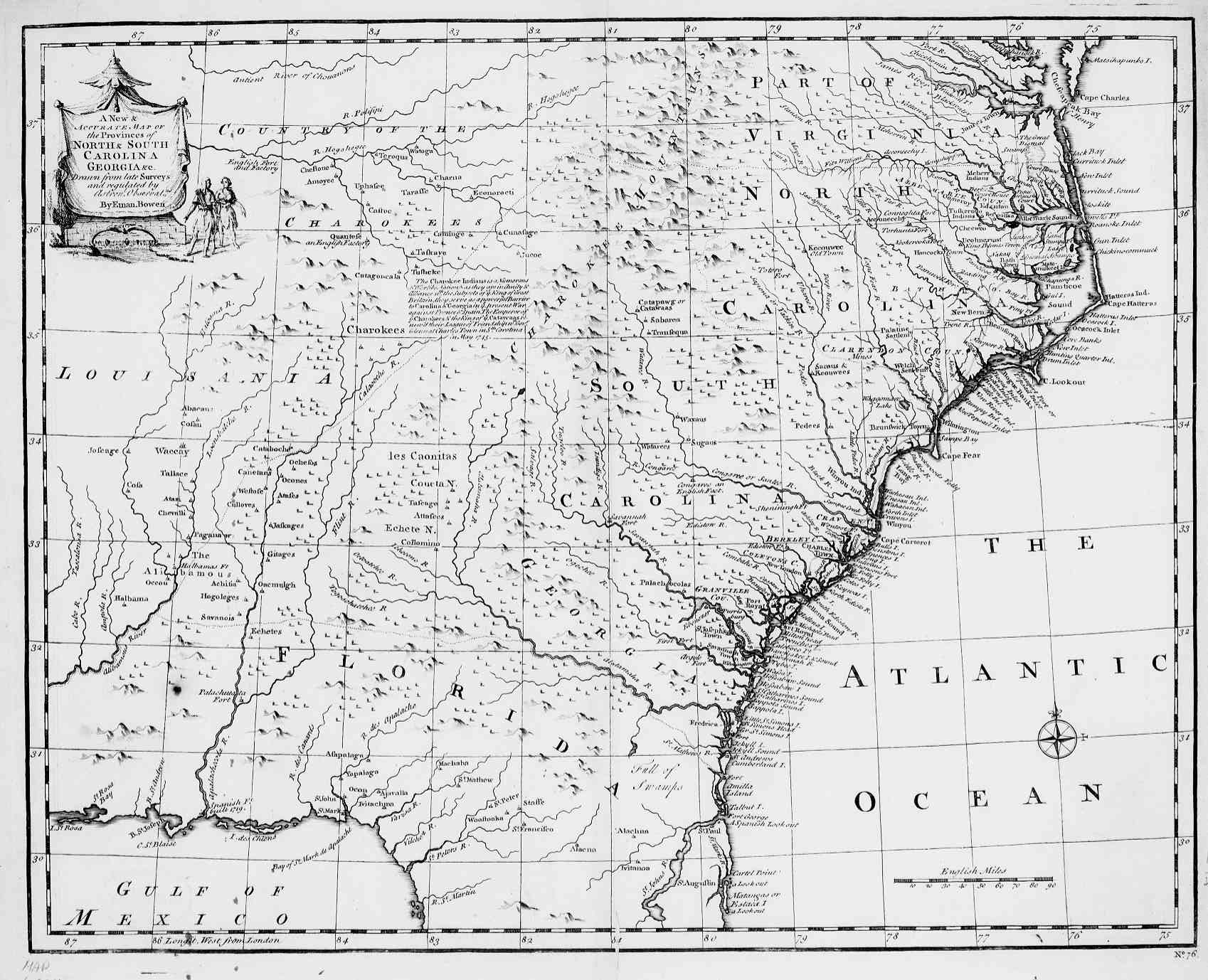 Map Of The Carolinas And Georgia English - Georgia map in english
