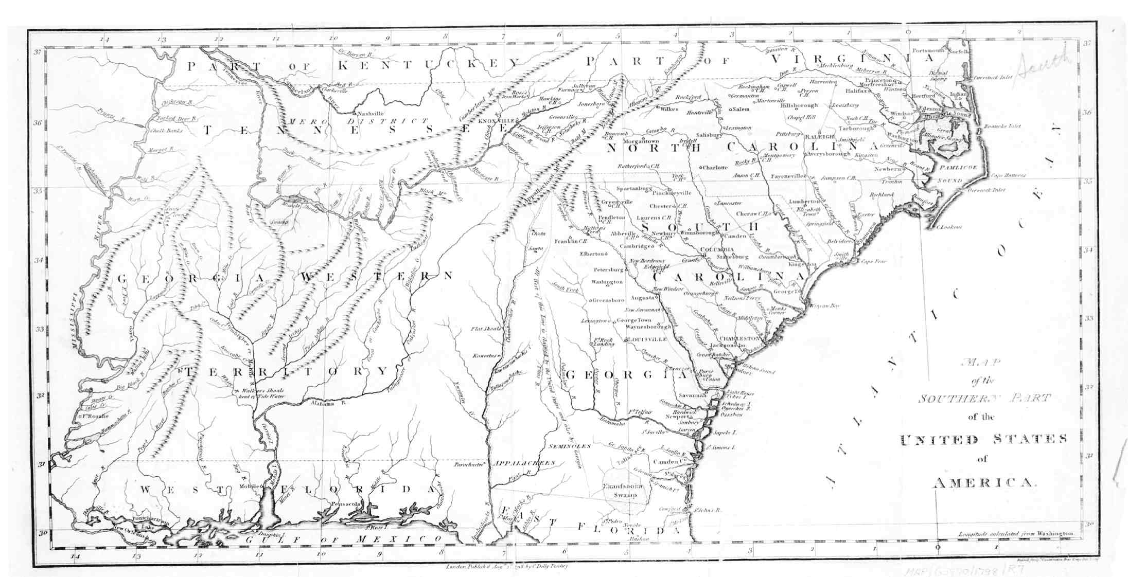 Map Of The Southeast American - Map of southeast us