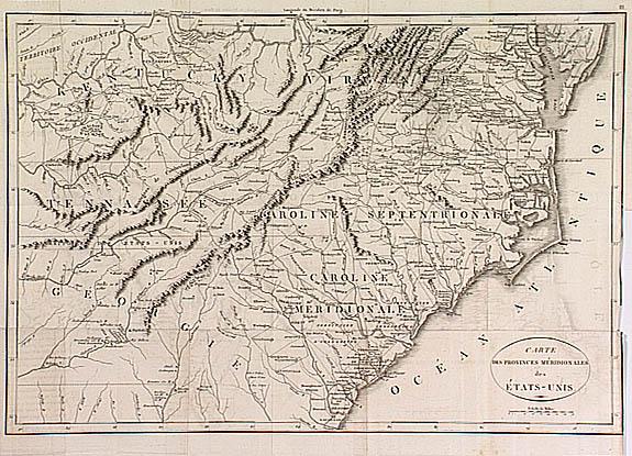 North Carolina Political Map 1800 Map of North Carolina And
