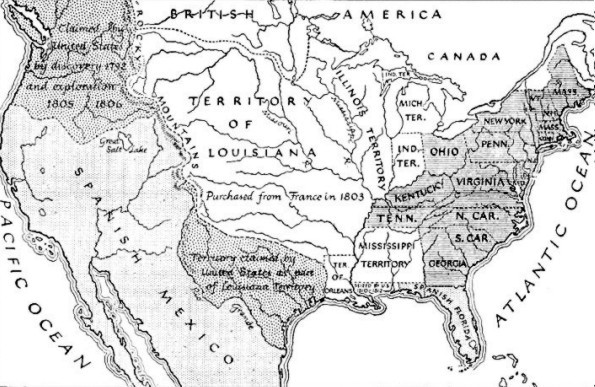Map Of America In 1812.1812 Map Of Usa English