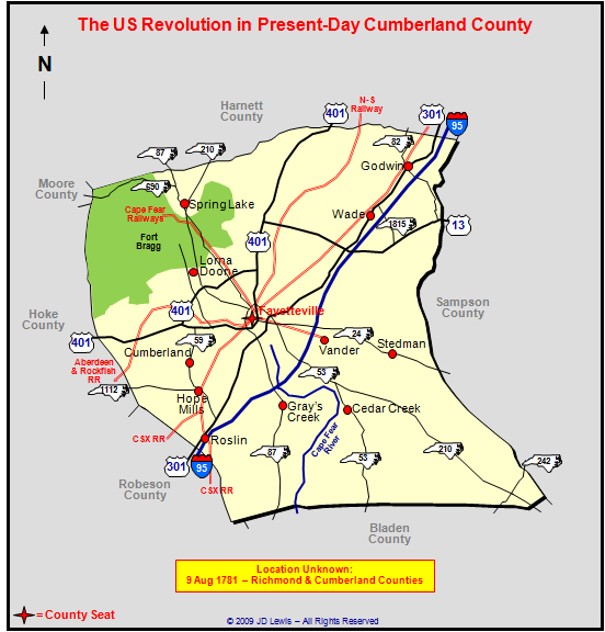 Richmond County Nc Map.The American Revolution In North Carolina Richmond Cumberland