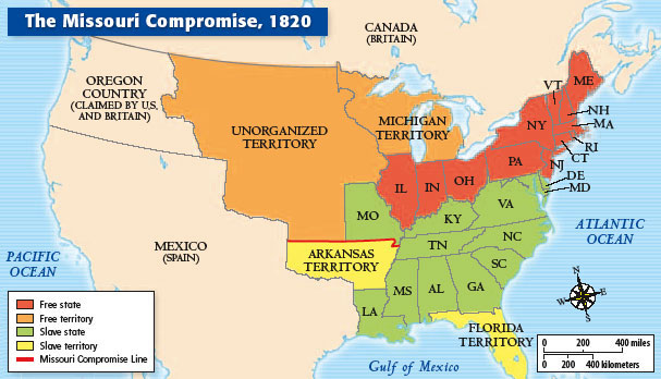 South Carolina - Antebellum Key Events - The Missouri Compromise