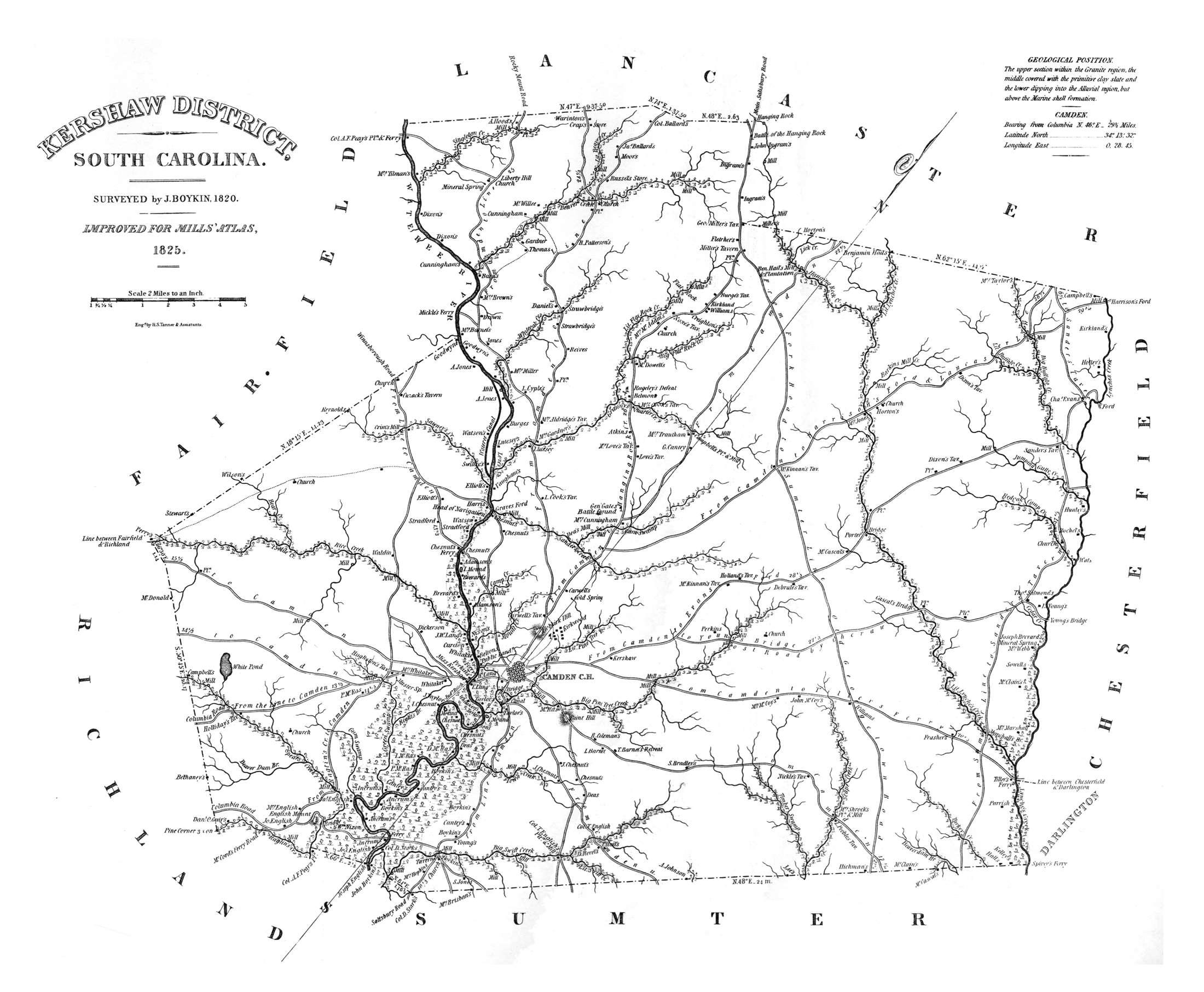 Map Of Kershaw District South Carolina - South carolina road maps