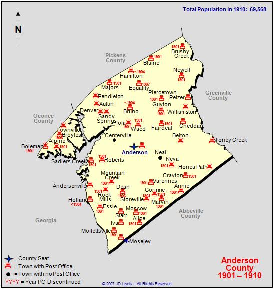 Anderson County Sc Zip Code Map | Zip Code MAP