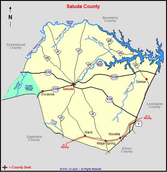 Saluda County South Carolina