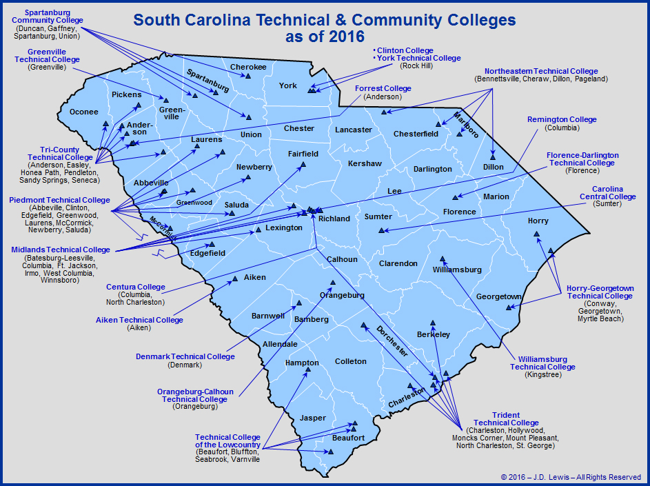 List of Community Colleges in South Carolina