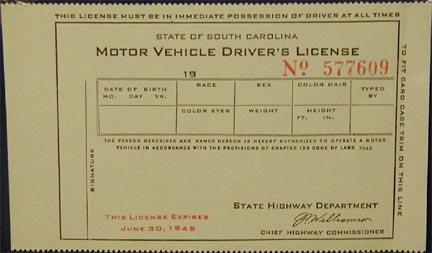 new drivers license south carolina