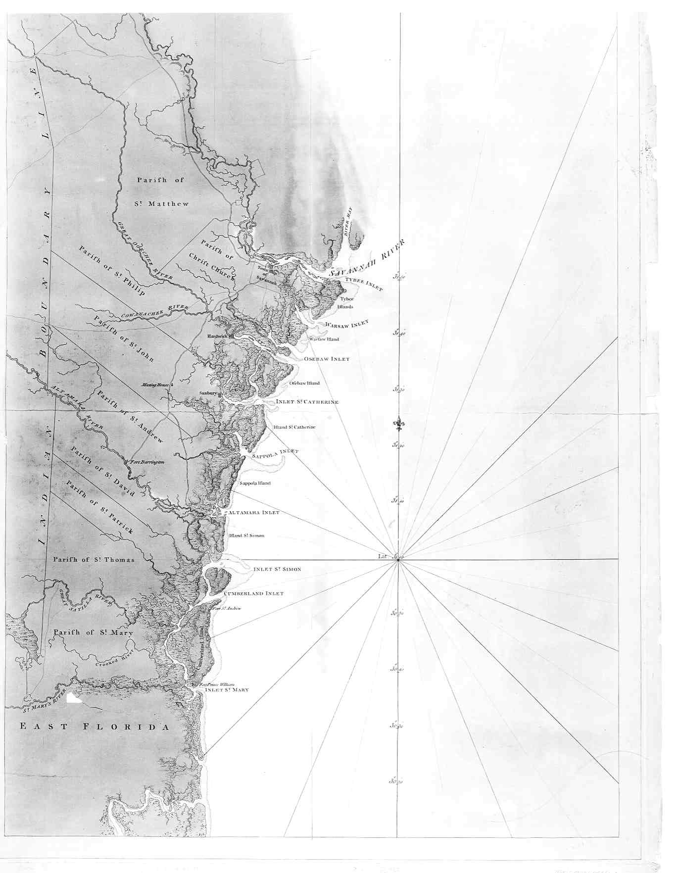 Map Of South Carolina And Georgia Coast English - Georgia map in english