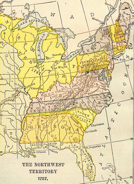 Us Map In 1787 1787 Map of USA   English