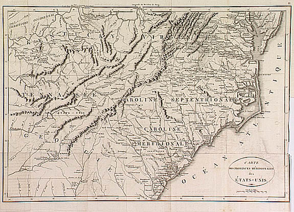 1800 Map of Southeastern USA - French