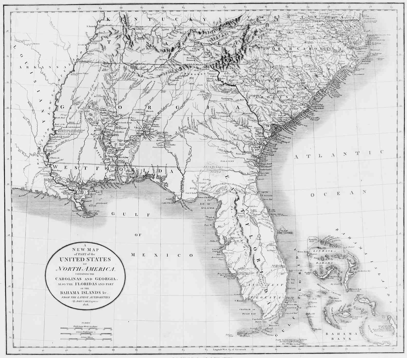 Southeast USA Wall Map Mapscom Neogene Atlas Of Ancient Life - Show me the map of united states of america