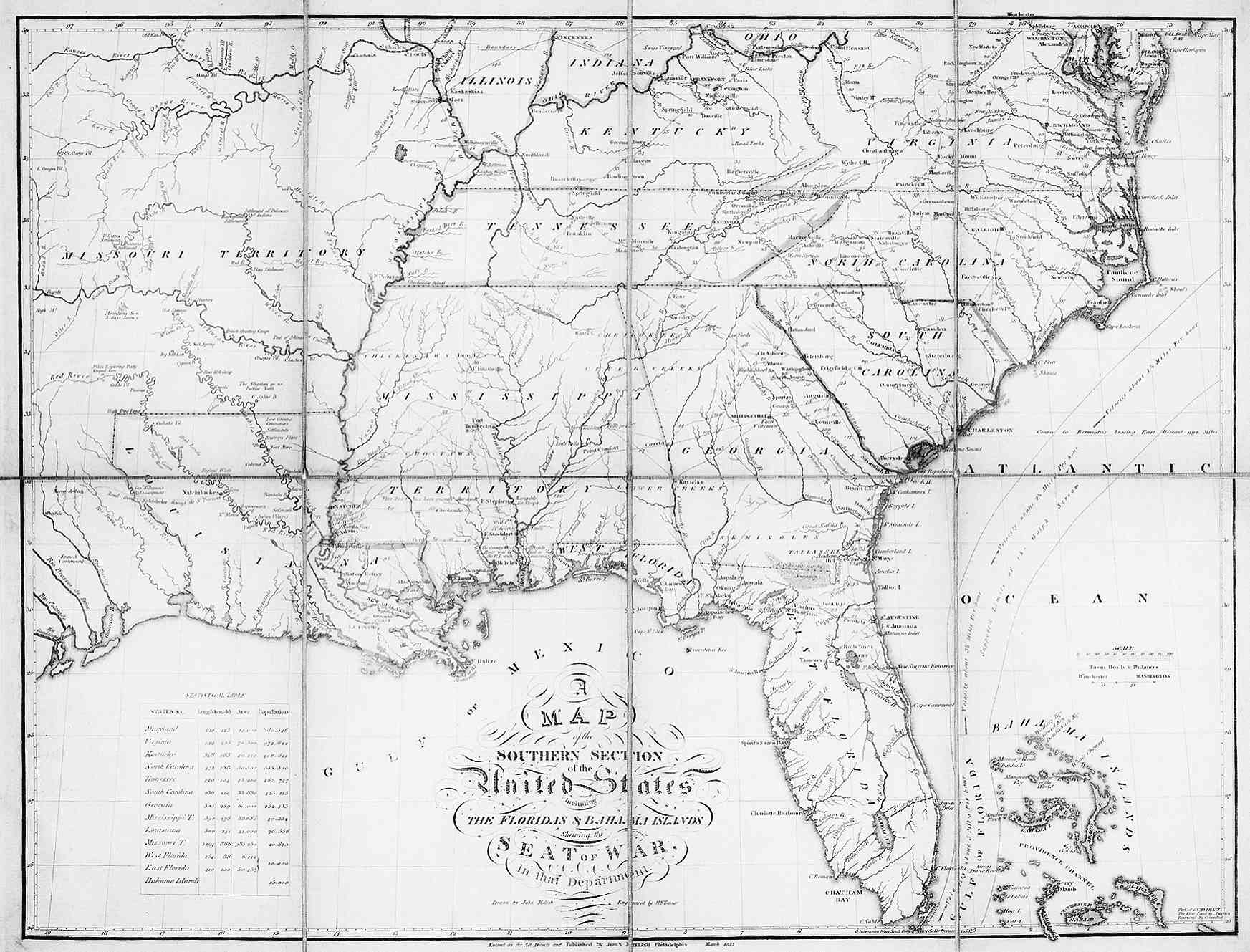 Map Of The Southeast American - Detailed map of alabama