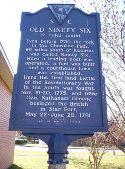 The American Revolution In South Carolina Ninety Six 1775