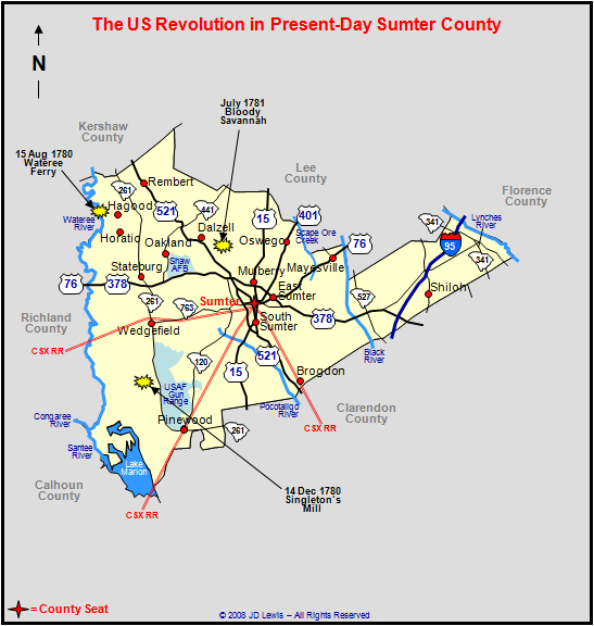 Sumter County SC Map