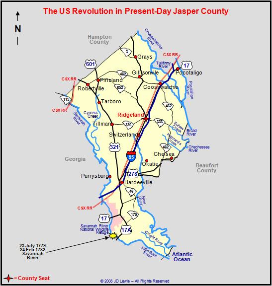The American Revolution In South Carolina Savannah River - Savannah river us map