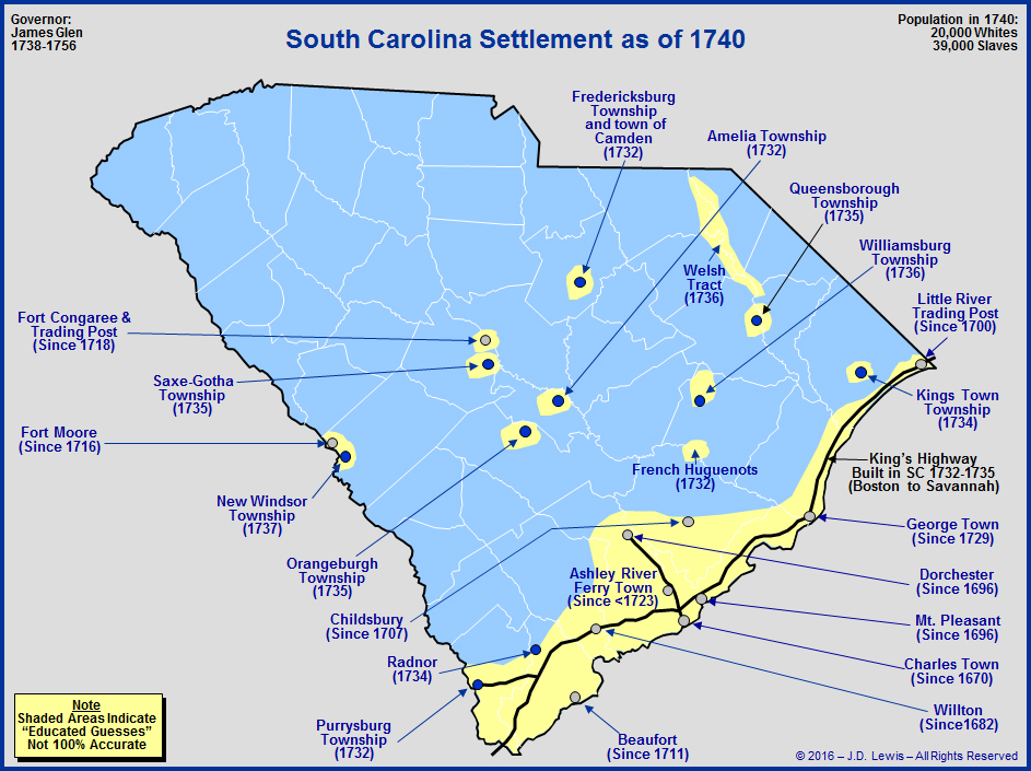 The Royal Colony Of South Carolina  The Towns And